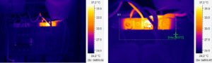 фото теплограммы тепловизионного обследования электрощитка