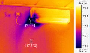 термограмма кондиционера в помещении