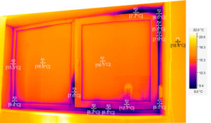 тепловизионный контроль зданий: окно