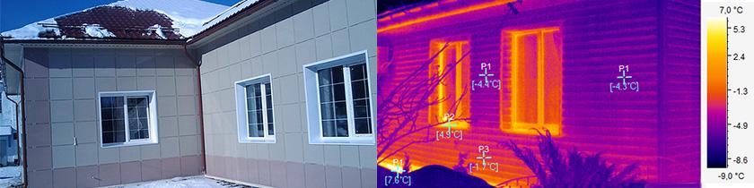 Тепловізійне обстеження будинку і його термограмма