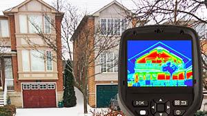Тепловизионный контроль зданий небольшой этажности