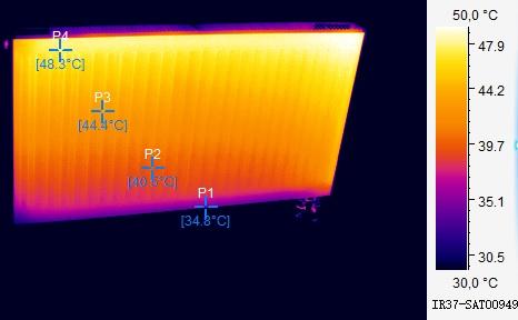термограмма горячей батареи