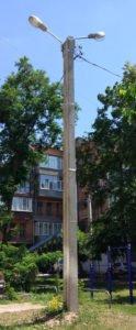 фото уличное освещение на опоре