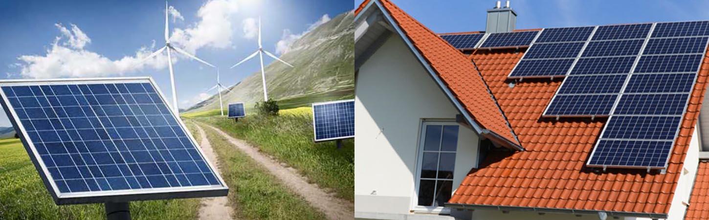 Фото сонячні батареї на будинку