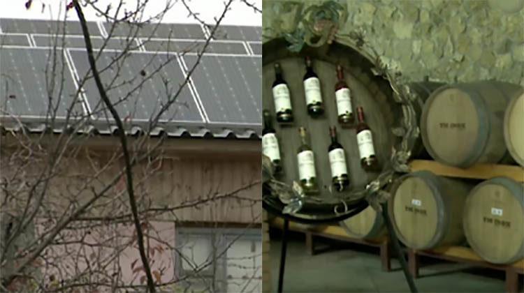 фото солнечная станция в Молдавии для производства вина