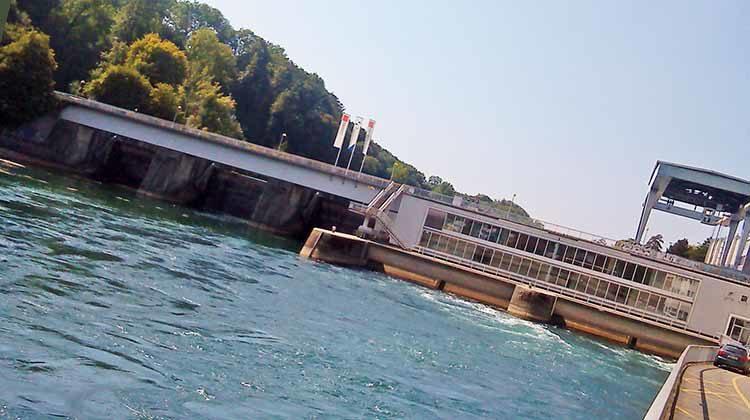 фото ГЭС на Рейне
