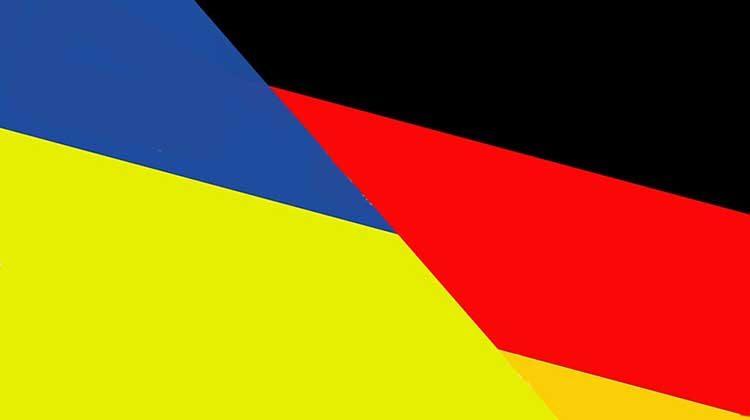 картинка флаги Украины и Германии