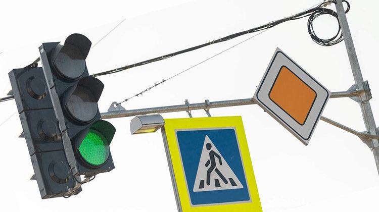 фото современный светофор в Днепре