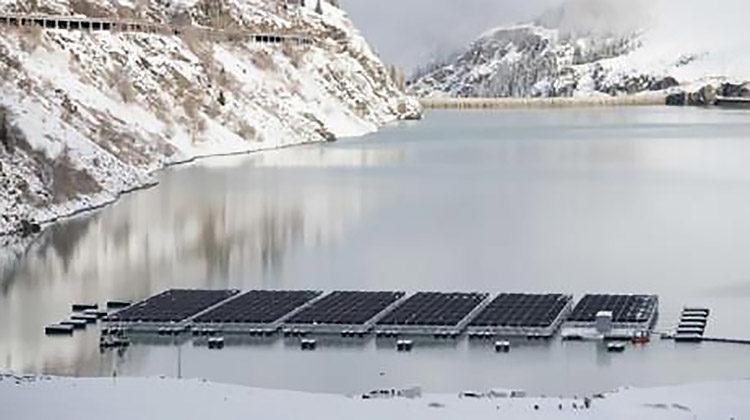 фотоэлектростанция в альпах