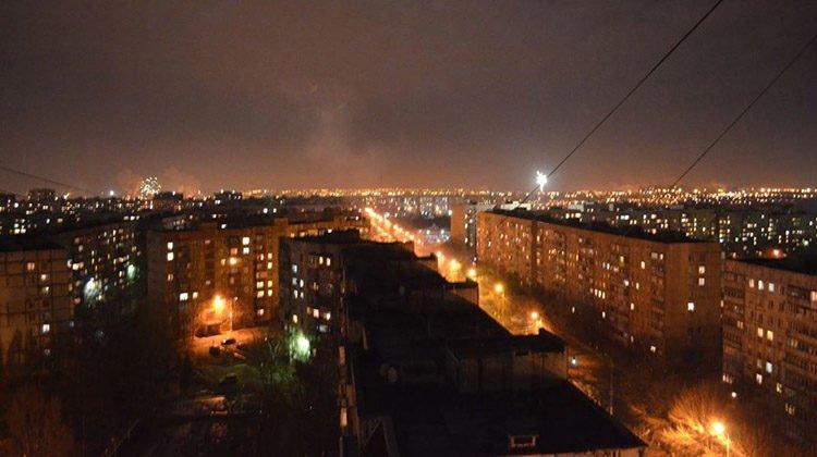 фото Мариуполь ночью
