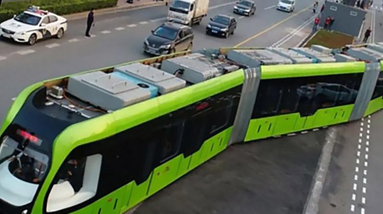 фото безрельсовый трамвай