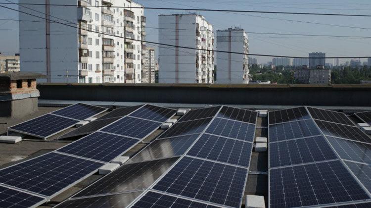 фото крышная СЭС на Троещине