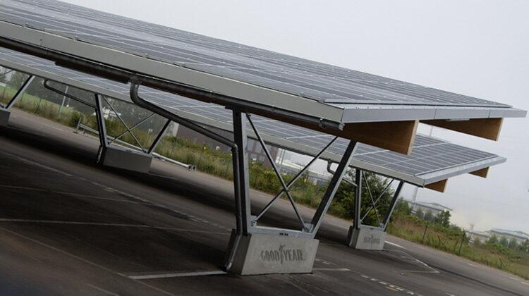 фото электростанция на крыше парковки